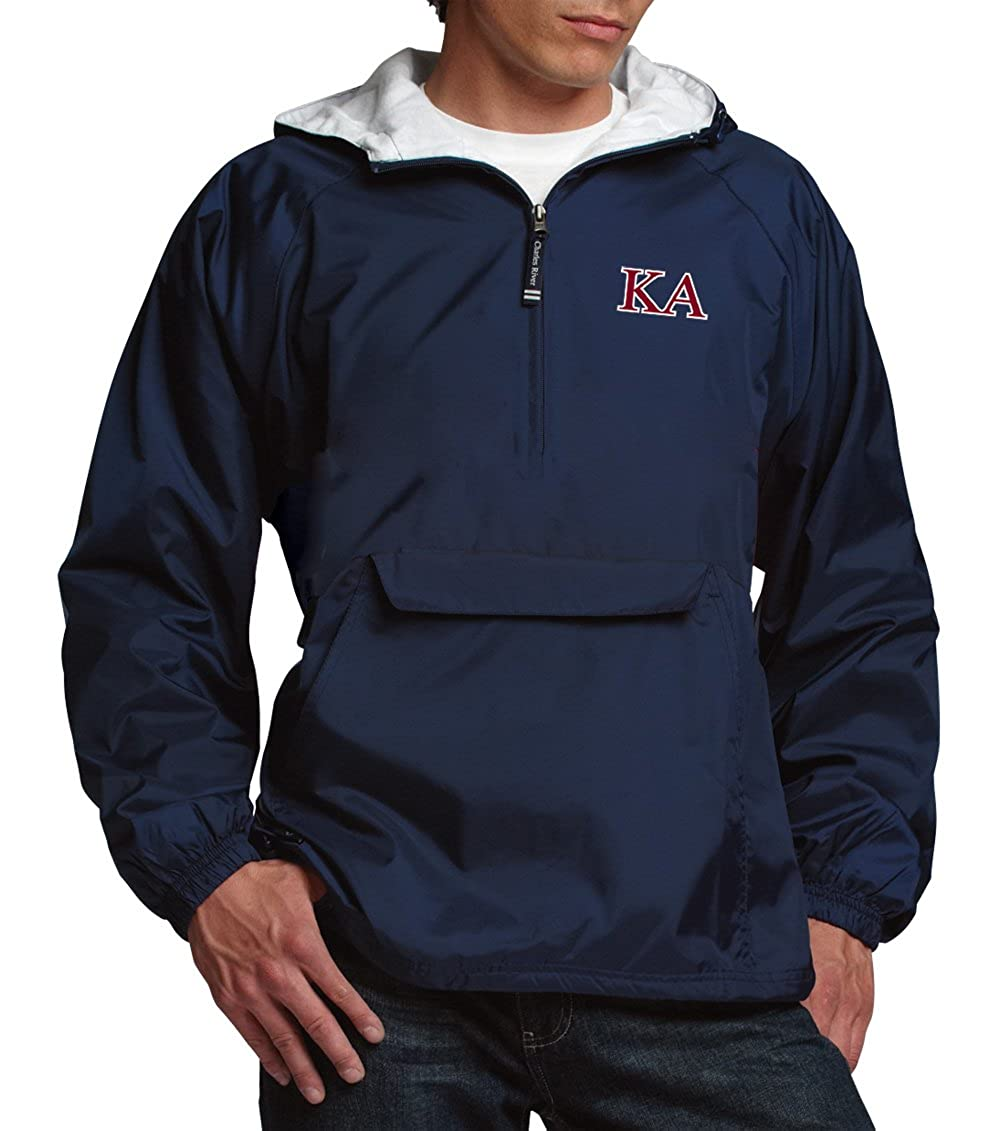 2908407ba Kappa Alpha Classic 1/4 Zip Rain Jacket at Amazon Men's Clothing store: