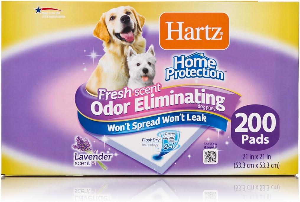 Hartz Home Protection Lavender Scent Odor Eliminating Gel Dog Pads