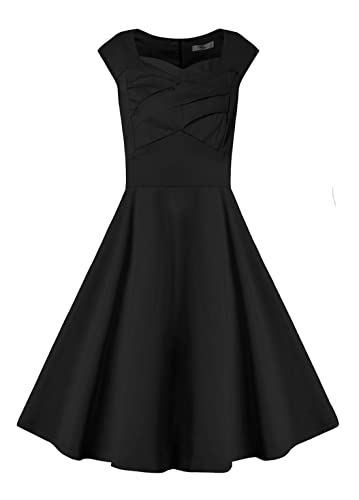 Relipop Women's Cut Out Vintage Dress Sleeveless Retro Party Dresses
