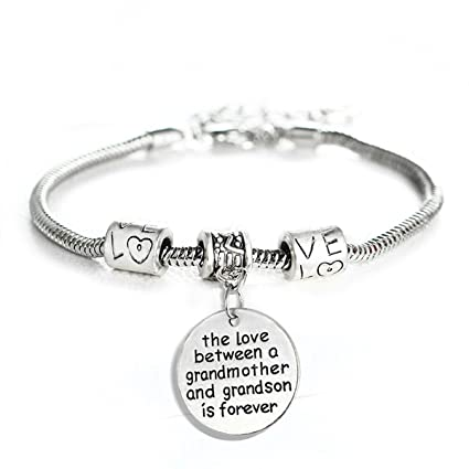 097b16b00 Amazon.com: Love between a Grandmother and Grandson is Forever Charm  Bracelet: Toys & Games
