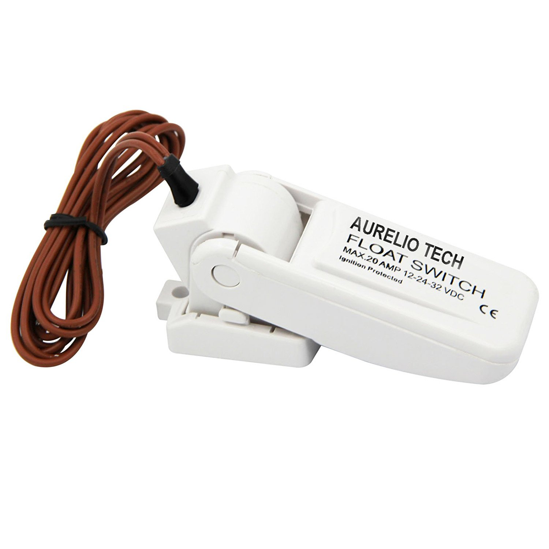AURELIO TECH Automatic Boat Bilge Pump Float Switch 12V 24V 32V Ignition protected Mercury