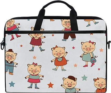 Laptop Bag Cartoon Wedding Pictures 15-15.4 Inch Laptop Case College Students Business People Office Briefcase Messenger Shoulder Bag for Men Women
