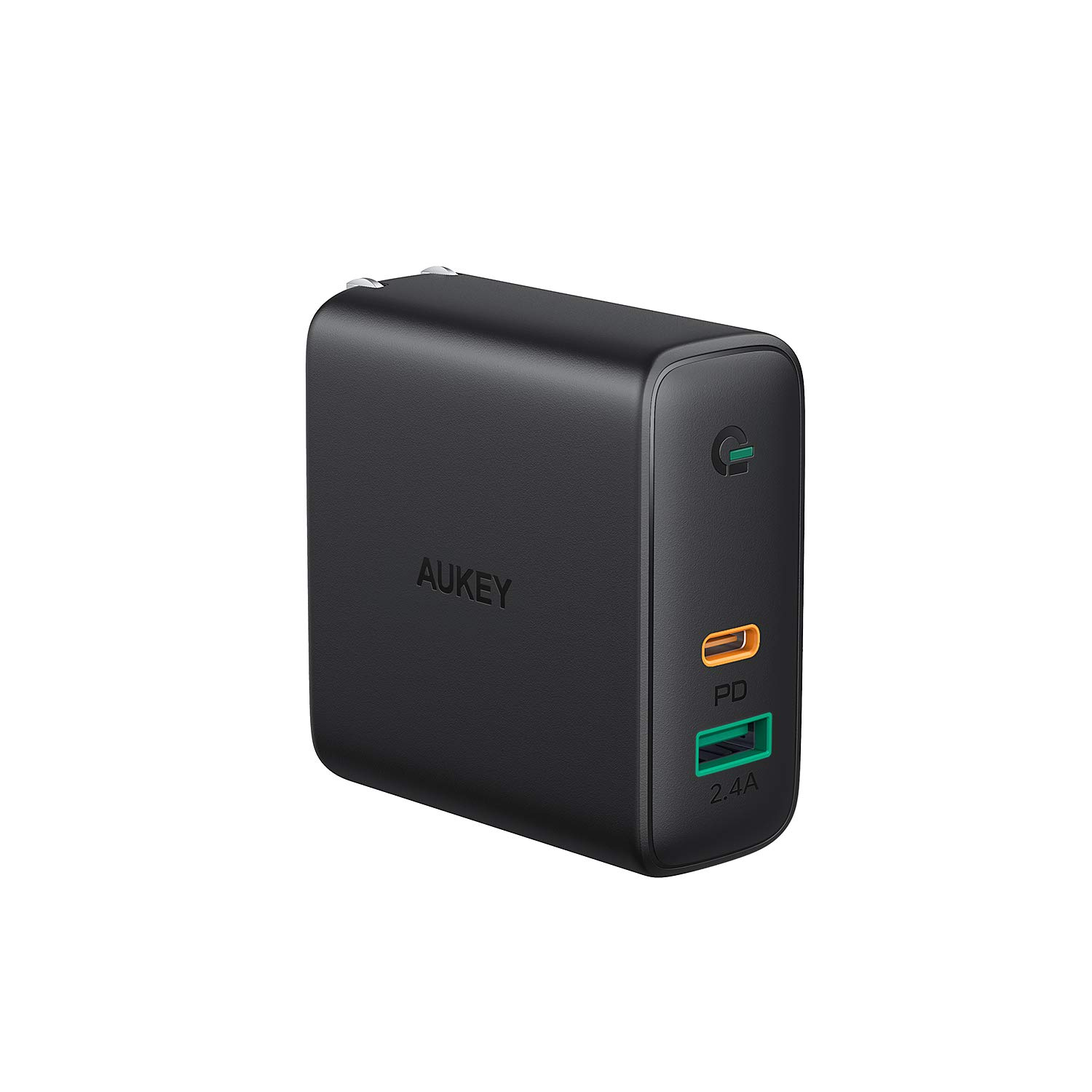 USB C Charger, AUKEY 60W Power Delivery Charger with Dynamic Detect & GaN Power Tech, Compatible with iPhone 11/11 Pro / 11 Pro Max, Pixel 3 / 3XL, MacBook Pro 13'', Airpods Pro and More by AUKEY