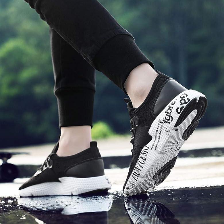 Logobeing Zapatillas de Deporte Transpirables de Malla Zapatillas Running Hombre Calzado de Running Deportivo Sneakers (39, Negro): Amazon.es: Zapatos y complementos