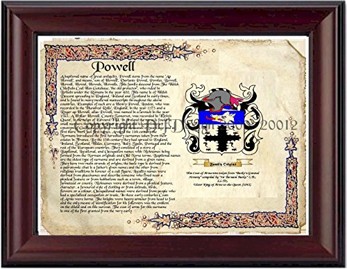 Powell Coat Of Arms (Powell Coat of Arms/ Family Crest on Fine Paper and Family History)