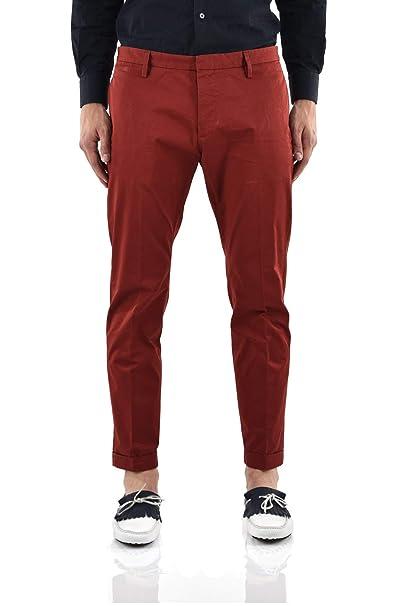 8b6cb8b920eb Dsquared2 Pantalone Rosso con Targhetta Stoffa Uomo - Taglia: 50 - Colore:  Rosso - Nuovo: Amazon.it: Abbigliamento