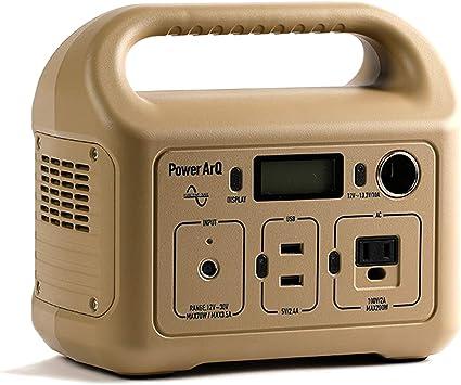SmartTap ポータブル電源 PowerArQ mini コヨーテ タン (346Wh / 93,600mAh / 3.6V / 正弦波 蓄電池) 正規保証1年