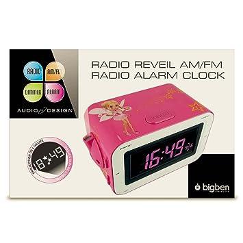 Bigben Interactive - RADIO REVEIL PROJECTEUR ROSE + FEE  Amazon.fr ... 3e58b6c59592