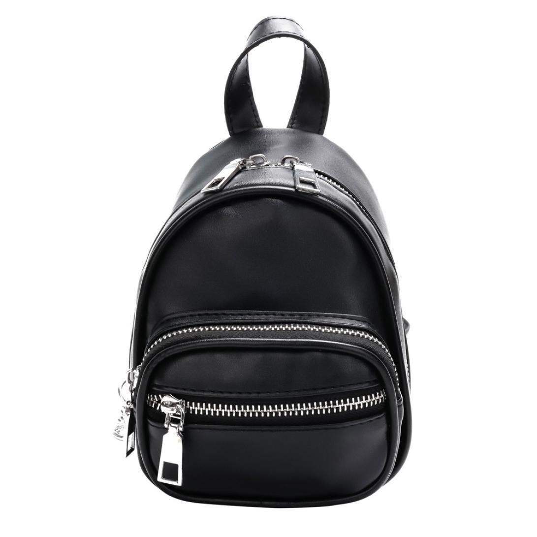 Women Girls Fashion Leather Crossbody Bag School Bag Backpack Satchel Large Tote Trave Chest Bag Zipper