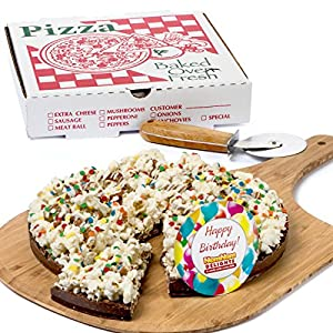 Gourmet Chocolate Gift Box | Happy Birthday Gift Chocolate Lovers Popcorn Pizza | Kosher Certified - By NomNom Delights