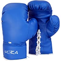Skera Pro Grade Boxing Gloves, Kickboxing, Fight Gloves Men & Women (4 Oz, 6 Oz,8 Oz, 10 Oz, 12 Oz) Red, Blue