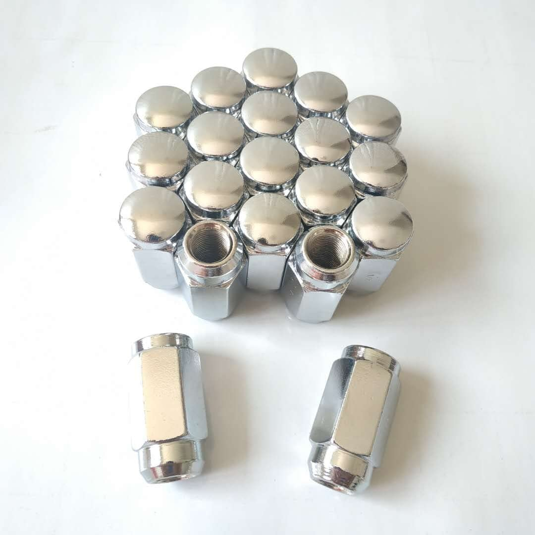 1.77 20pcs Chrome 1//2-20 UNF Wheel Lug Nuts fit 2007 Jeep Liberty May Fit OEM Rims Buyer Needs to Review The spec Total Length