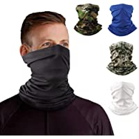 Neck Gaiter Headband Tube Bandana Elastic Scarf Sunscreen Balaclava Wicking Face Mask Dust Sun UV Protection Fishing…