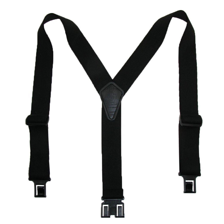Perry Suspenders Mens Elastic Ruf-N-Tuf Hook End Suspenders (Tall Available), Tall, Black