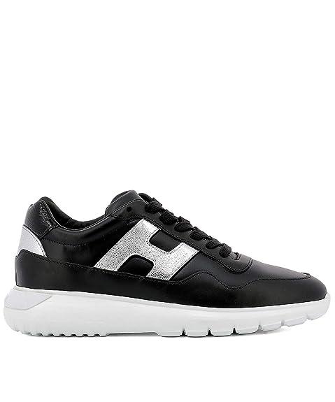 Hogan Mujer HXW3710AP20JI80353 Negro Cuero Zapatillas: Amazon.es: Zapatos y complementos