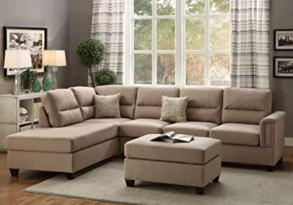 Magnificent Amazon Com 1Perfectchoice Modern Sectional Sofa Couch Customarchery Wood Chair Design Ideas Customarcherynet