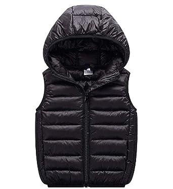 bd1afffdf Amazon.com  LANBAOSI Boys Girls Winter Hooded Puffer Vest Kids ...