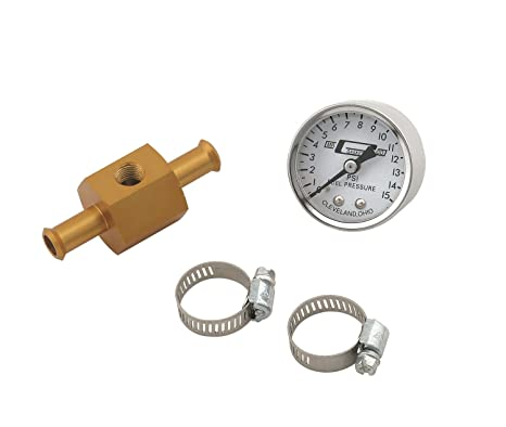 61f5GDl5ZZL._SX466_ amazon com mr gasket 1560 fuel pressure gauge with in line adapter