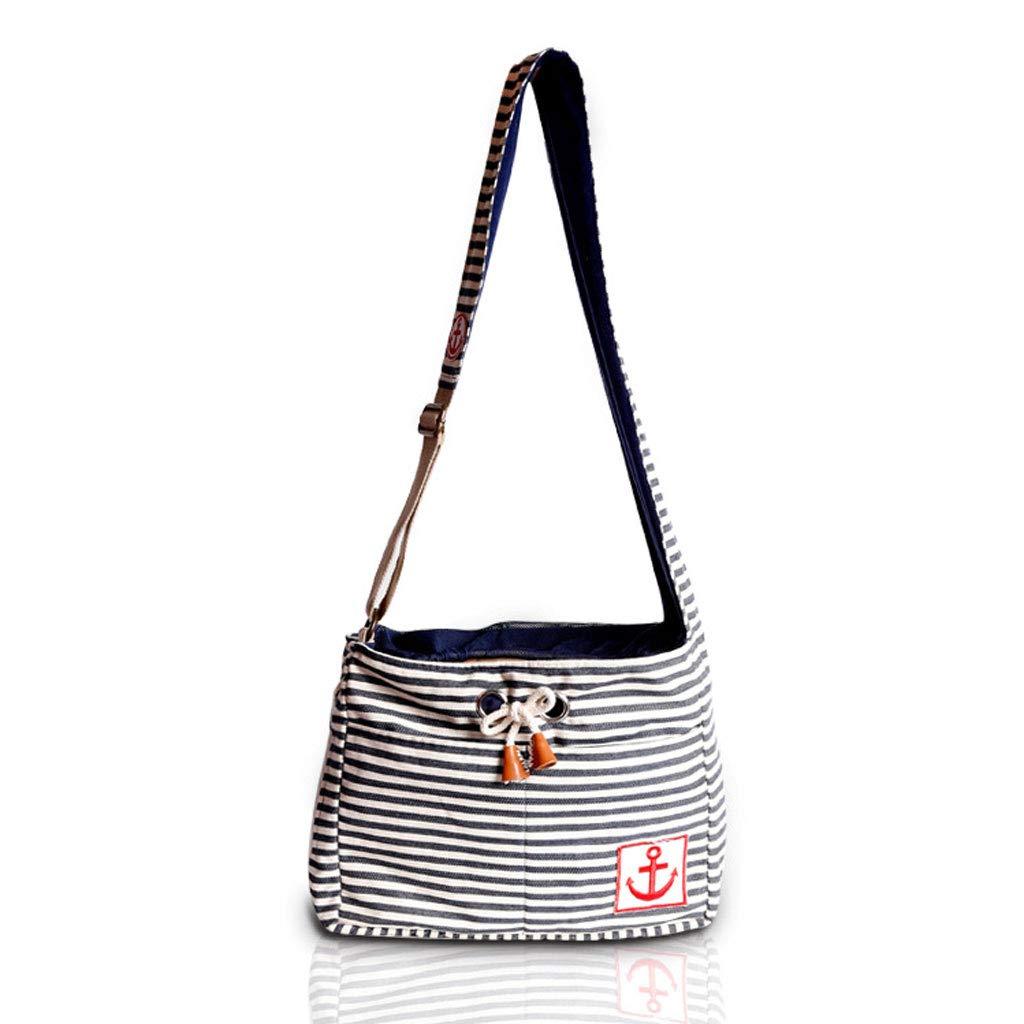 A Pets Out Portable Striped Out Travel Bag Pet Cross-Body Bag,A