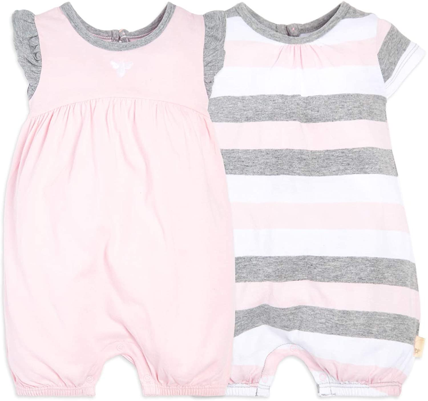 Amazon.com: Burt's Bees Baby Baby Girls Rompers, Set of 2 Bubbles, One  Piece Jumpsuits, 100% Organic Cotton: Clothing