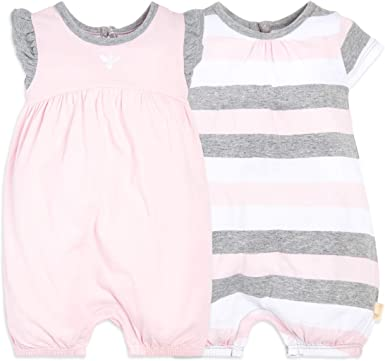 Burts Bees Baby Girl Maxi Dress Set Size 3 6 9 12 Months Layette Pink Grey