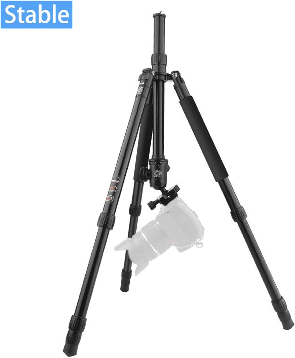 Color : Aluminum LLluckyHW DSLR Tripod Travel Tripod Compact Desktop Macro Tripod Use as Camera Tripod Plate and Ball Head Included Quick Release Plate Panoramic Shooting