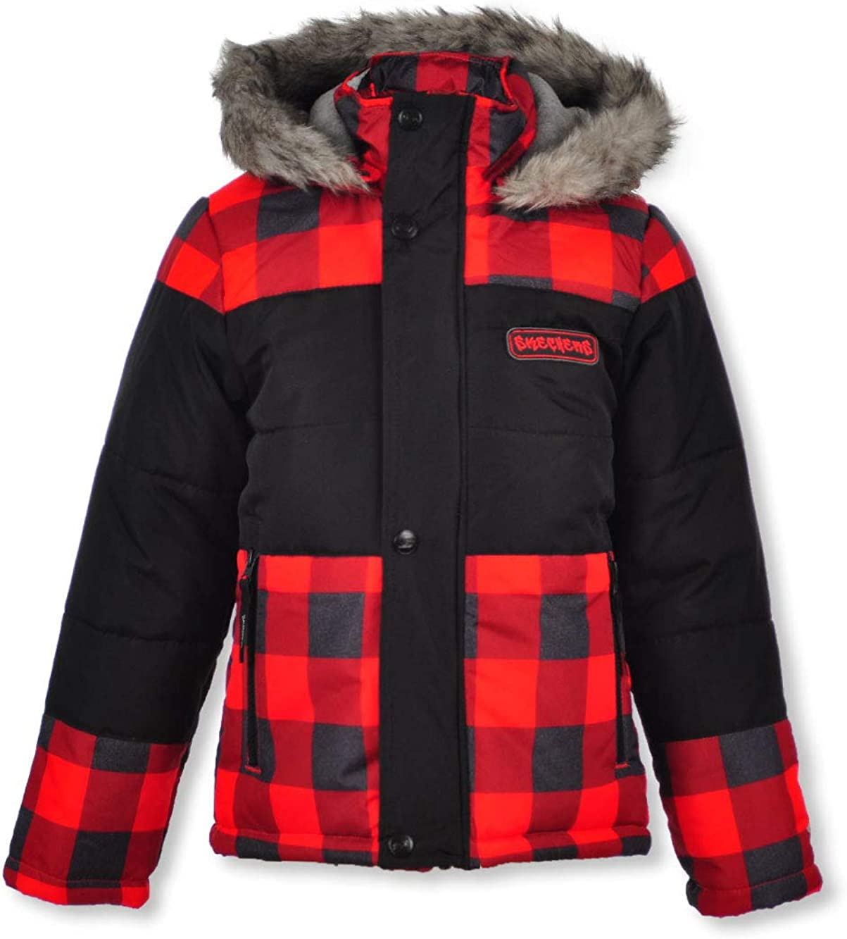 Skechers Boys' Heavyweight Winter Jacket Limited time sale Hood with New color