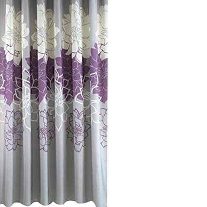 Sfoothome Purple Background and Butterfly Flowers Printed Pattern Mildew