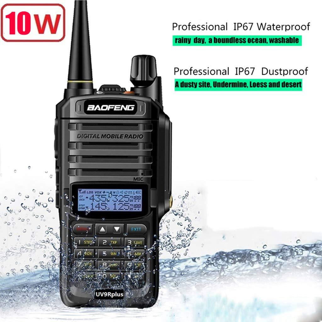 Yuly Walkie Talkie 10w for Two Way Radio Long Range 10km 4500mah Uv 9r Plus 2019 Power Upgrade Baofeng UV-9R Plus Waterproof by Yuly (Image #1)