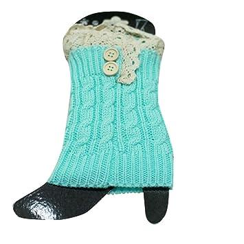 calcetines botas calcetines navidad, Sannysis 2pcs Mujer de encaje de Calcetines, calcetines termicos mujer Calentadores de piernas Calcetines Puños ...