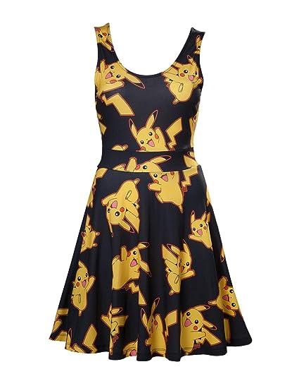 Pokemon Pikachu - Allover Dress Multicolour XS