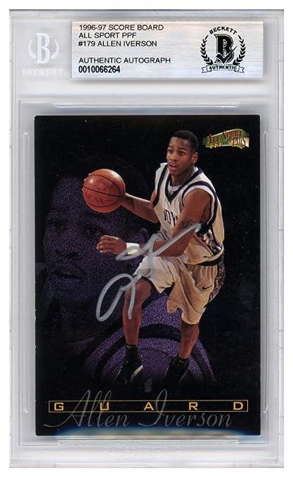 9eebf909b94 Allen Iverson Autographed Signed 1996-97 Score Board All Sport PPF Rookie  Card #179