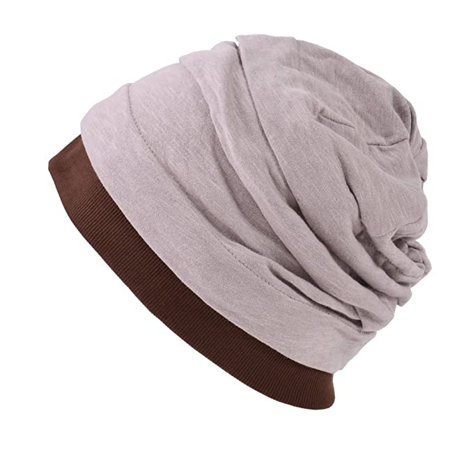 Casualbox CHARM Mens Womens Japanese Design Cotton Linen Big Beanie Hat  Baggy Slouch Pink Beige at Amazon Men s Clothing store  55dd26aa95f6