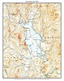 Newfound Lake - 1927 USGS Topographical Map Custom Composite Print New Hampshire