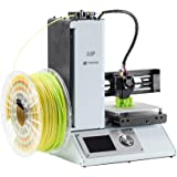 Monoprice 121872 Mini 3D Drucker V2 mit beheiztem Bauplatte und Power Adapter, Weiß
