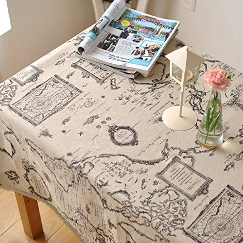 Lace Table Cloth for Round&Rectangular&Oval Table(55x55In) (Round Map)