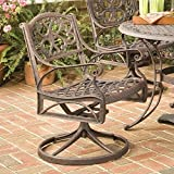 Home Style 5555-53 Biscayne Rocking/Swivel Outdoor Arm Chair, Rust Bronze Finish