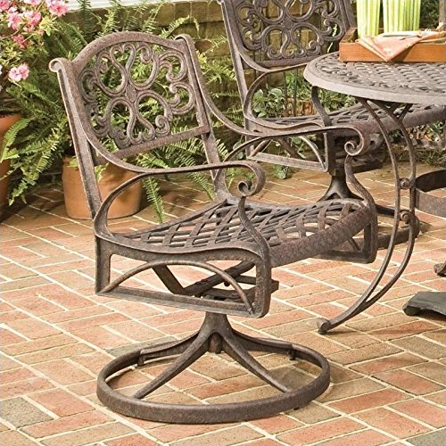 Home Style 5555-53 Biscayne Rocking/Swivel Outdoor Arm Chair, Rust Bronze Finish by Home Styles