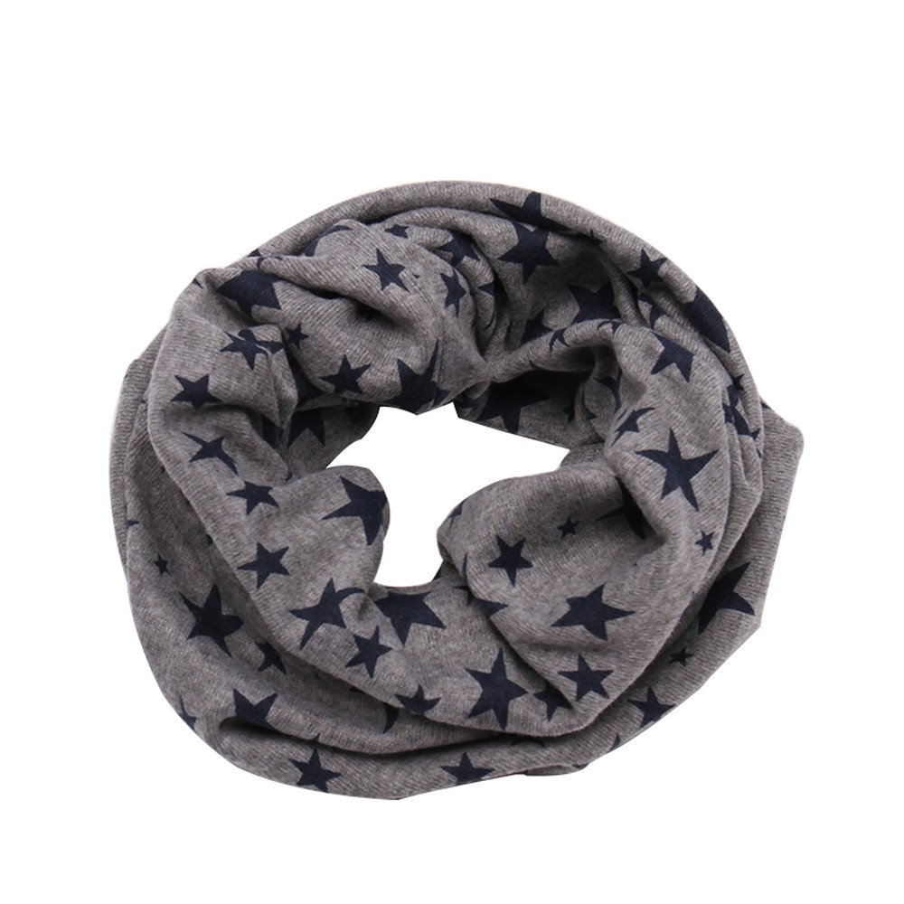 BURFLY Baby Boys Girls Children Neck Warmer Cover Kids Cotton Stars Printed Scarf Shawl Winter Neckerchief