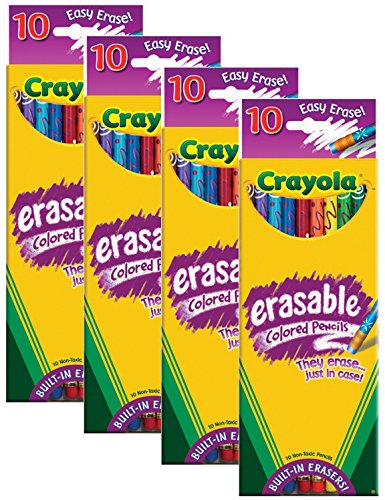 Crayola Erasable Colored Pencils Count
