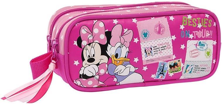 Disney Minnie y Daisy Estuche Doble Compartimento, Color Rosa: Amazon.es: Equipaje