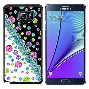 Stuss Case / Funda Carcasa protectora - Punto De Punto Teal Pink Lime - Samsung Galaxy Note 5 5th N9200
