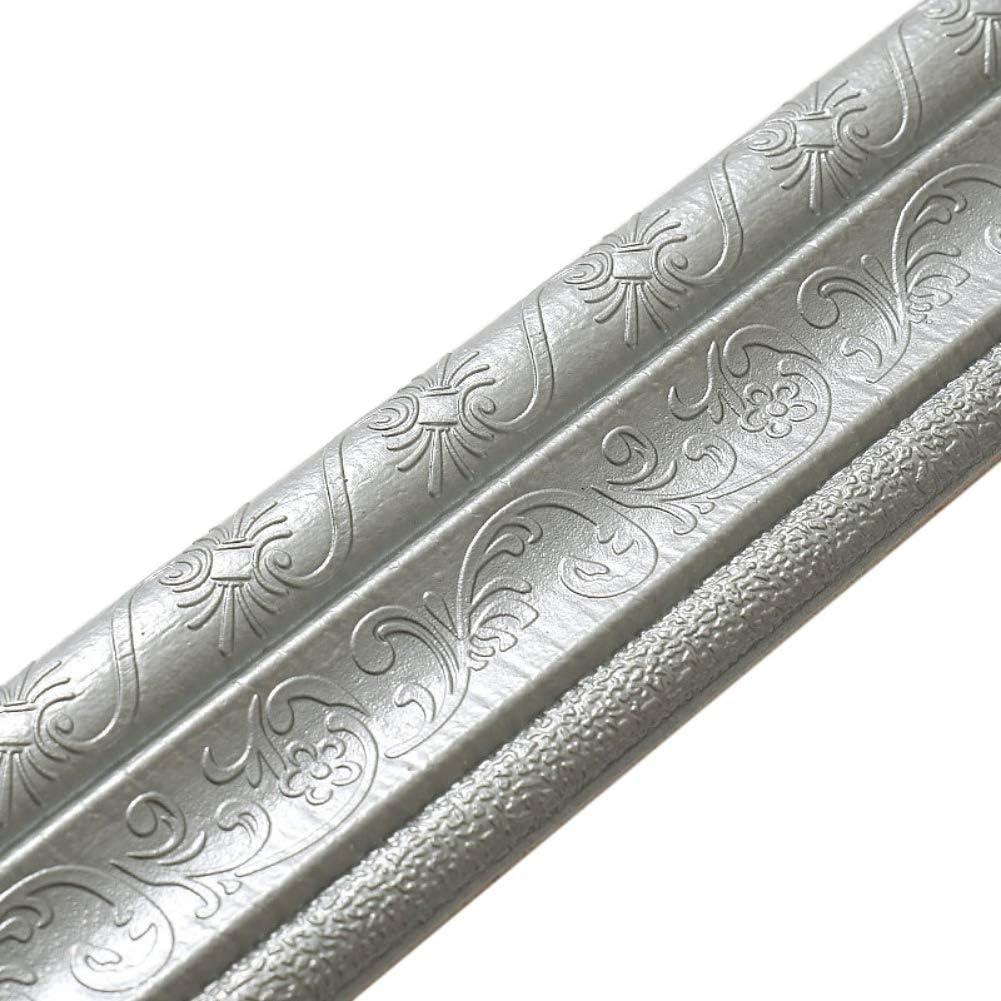 Ochine 15ft Wallpaper Border Peel and Stick Wall Mirror Borders 3D Flower Foam Molding Trim Self Adhesive, Easy to Apply