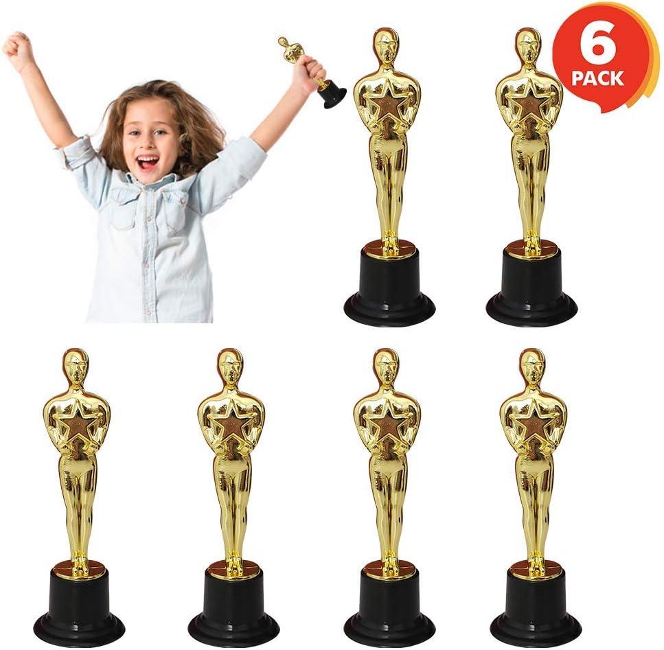 FashionSun Trofeo para niños, Mini Oscar Estatua | Premios de la Academia Trofeos | Película de oro Noche o Hollywood decoraciones de fiesta | regalos de fiesta de cumpleaños, regalos de apreciación,