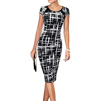 LunaJany Women's Casual Wear to Work Office Career Sheath Dress at Women's Clothing store