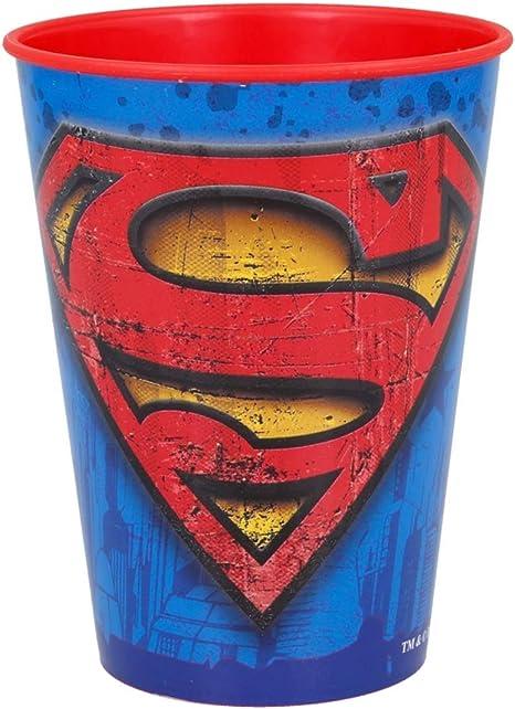 4 vasos de pl/ástico para ni/ños dise/ño de Superman 250 ml