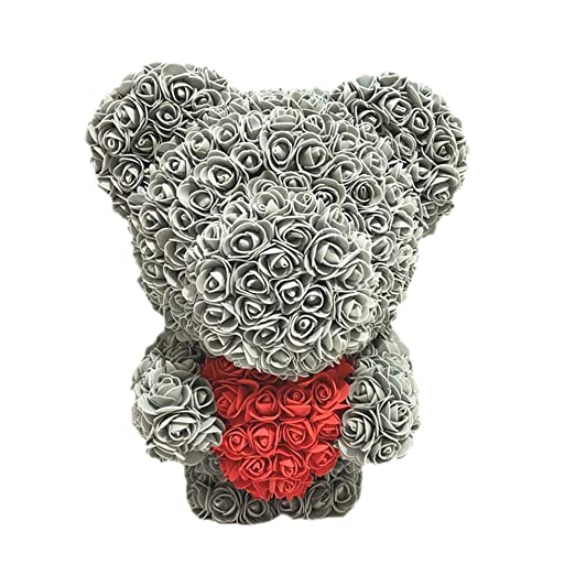Rose Bear Doll Forever Artificial Rose Valentines ...
