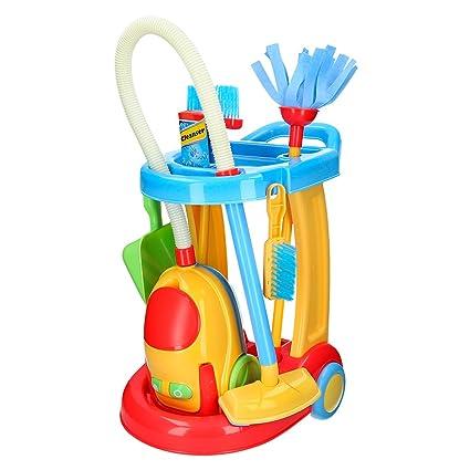 Playgo - Carrito limpieza & aspirador eléctrico (ColorBaby 44588)