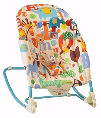 d450d4fe15c7e Amazon.com : Fisher-Price Deluxe Infant to Toddler Comfort Rocker alphabet  design new! : Other Products : Baby
