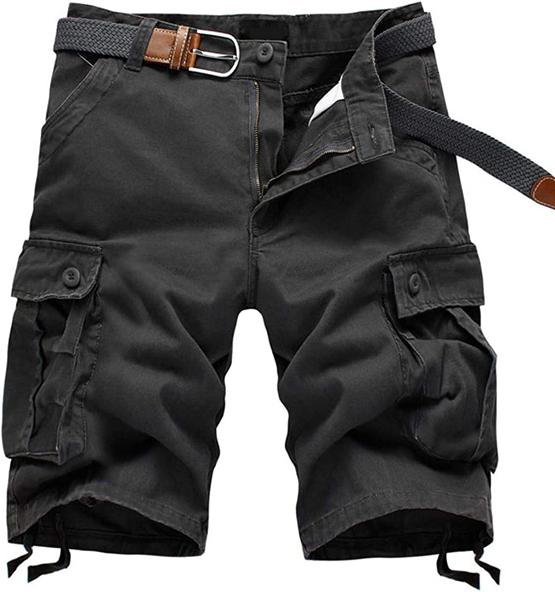 APTRO Men's Cargo Shorts Cotton Lightweight Relaxed Fit Casual Shorts with Multi-Pockets
